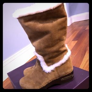 Tall Suede fur lined boots